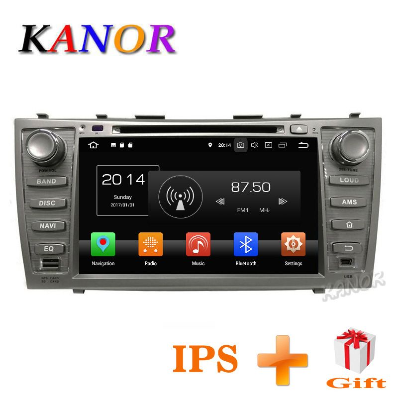 KANOR IPS Touchscreen Android 8.0 4+32G 2din Car DVD GPS Navi For Toyota Camry 2007 2008 2009 2010 2011 With Autoradio 2 din