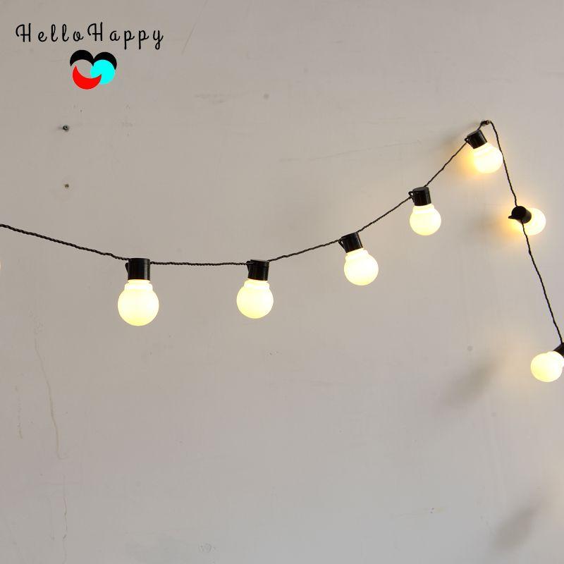 5.9M 20 LED String Light Outdoor <font><b>Fairy</b></font> Lights Garland G45 Bulbs Garden Patio Wedding Christmas Decoration Light Chain Waterproof