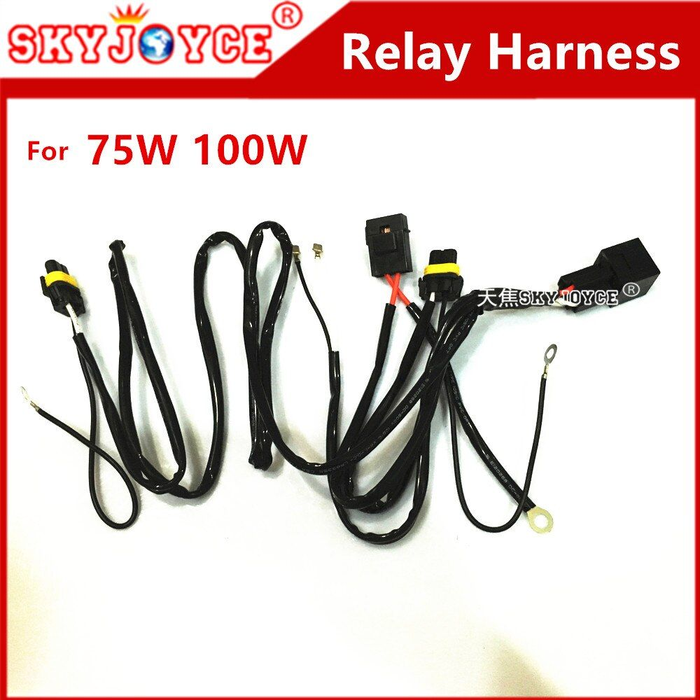 DC12V 40A HID xenon kit H7 75W HID relay harness H1 H11 H7 D2H 100W HID Power Cable Relay Control Wire Harness motorcycle hid