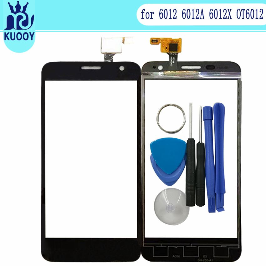 Écran Tactile En Verre Pour Alcatel One Touch Mini Idol 6012 6012A 6012X OT6012 Écran Tactile Lentille Numériseur Capteur Adhésif Avec outil