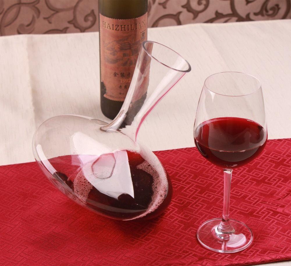 1 шт. 1200 мл Стекло вина Графины конические носик вино Аэратор контейнер распределитель вина Графин без ручки бутылки вина кувшин j1107