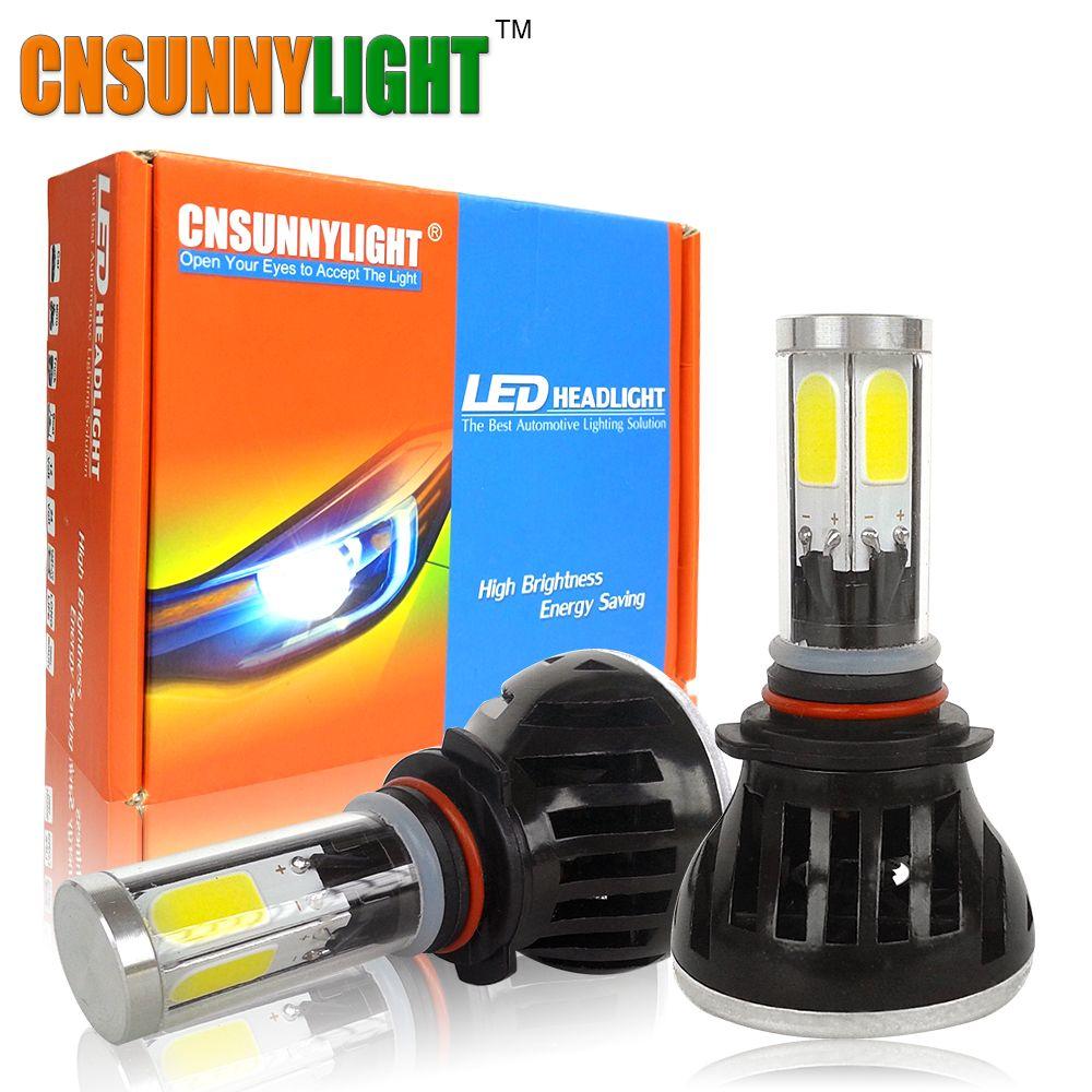 LED H4 H7 H11 9006/HB4 9005/HB3 COB Car Headlight Bulbs 80W 8000Lm DC 12V 360 Degree Fog Light Sourcing 3000K 5000K 6000K 8000K