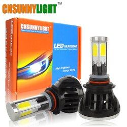 LED H4 H7 H11 9006/HB4 9005/HB3 COB Car Headlight Bulbs 80W 8000Lm DC 12V 360 Degree Fog Light Sourcing 3000K 5000K 6000K 8000K
