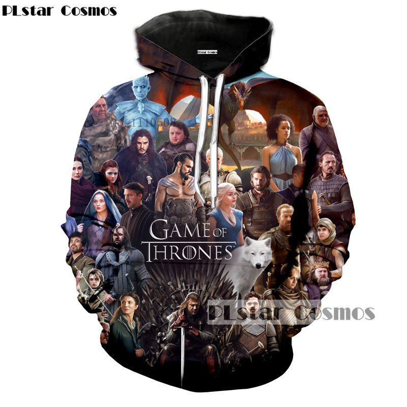 PLstar Cosmos Popular TV Game of Thrones The white walkers Ghost 3D Printed Men/Women hoodies casual Sweatshirts Hooded Tops