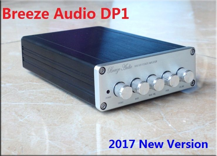 2017 New Breeze Audio DP1 2.1 Channel high-power HIFI digital audio amplifier 50W*2+100W TPA3116D2 Subwoofer Amplifier DC24V 5A