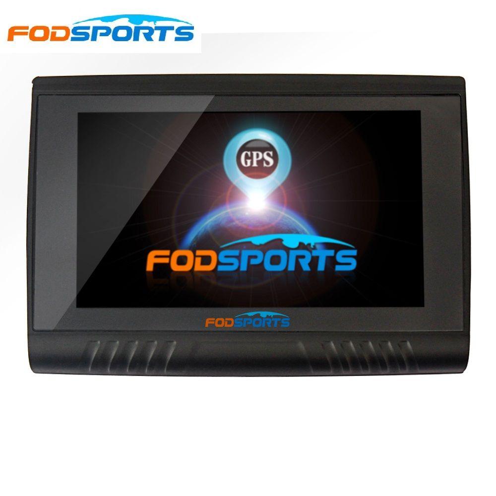 2017 Fodsports 5.0 Inch Waterproof Motorcycle GPS Moto Bluetooth Navigator FM Transmitter 256M RAM 8GB Flash free map