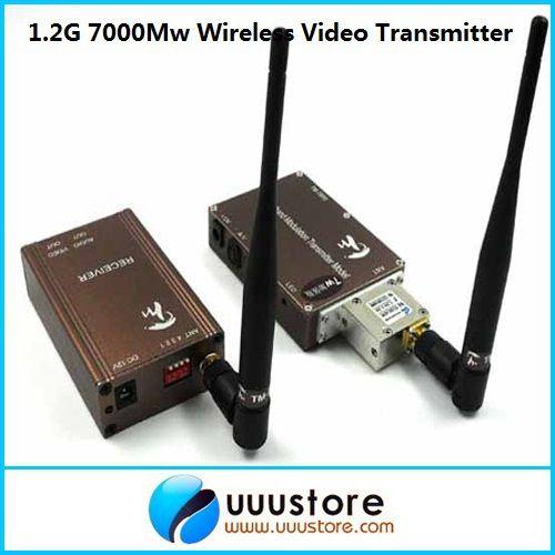 Taiwan 1,3 Ghz 7000 MW 7 Watt Wireless transceiver, 1,3 Ghz Video Audio Transmitter Receiver, Long Range FPV CCTV sender