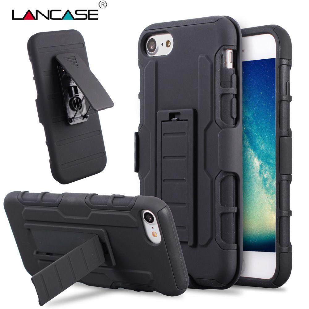 LANCASE Pour iPhone 6 S Case Ceinture Couverture Clip Holster Stand Armure Cas pour iPhone 6 s Plus 6 Plus 5S SE 5C 7 PLUS Antichoc cas