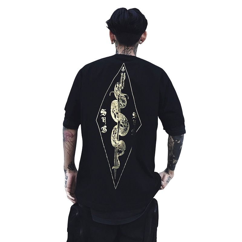 Dropshipping Wholesalers Suppliers 2018 New Summer Black Streetwear Hip Hop T-Shirt Men