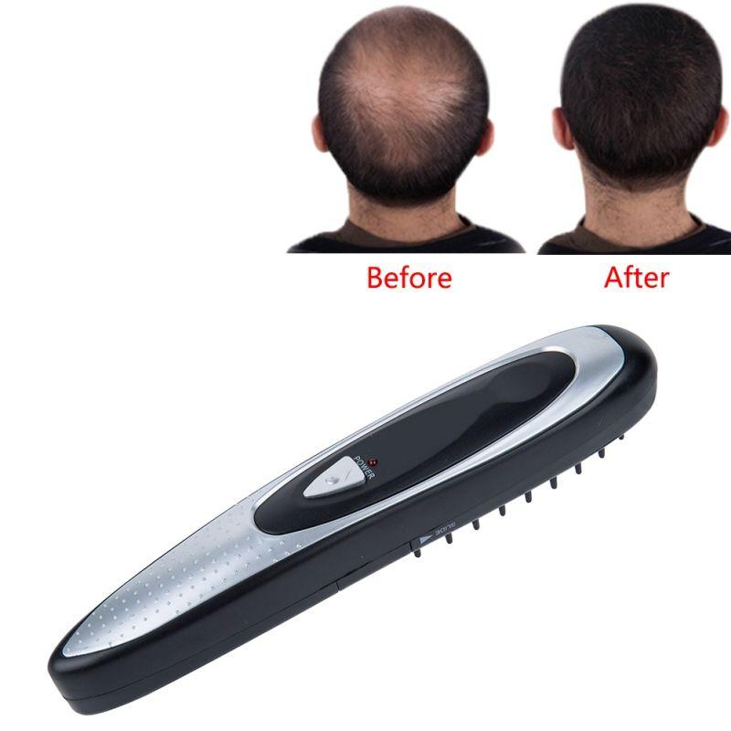 Профессиональный Электрический Лазер роста волос гребень укладки волос потери отрастания лечение гребень инфракрасный стимулятор устрой...