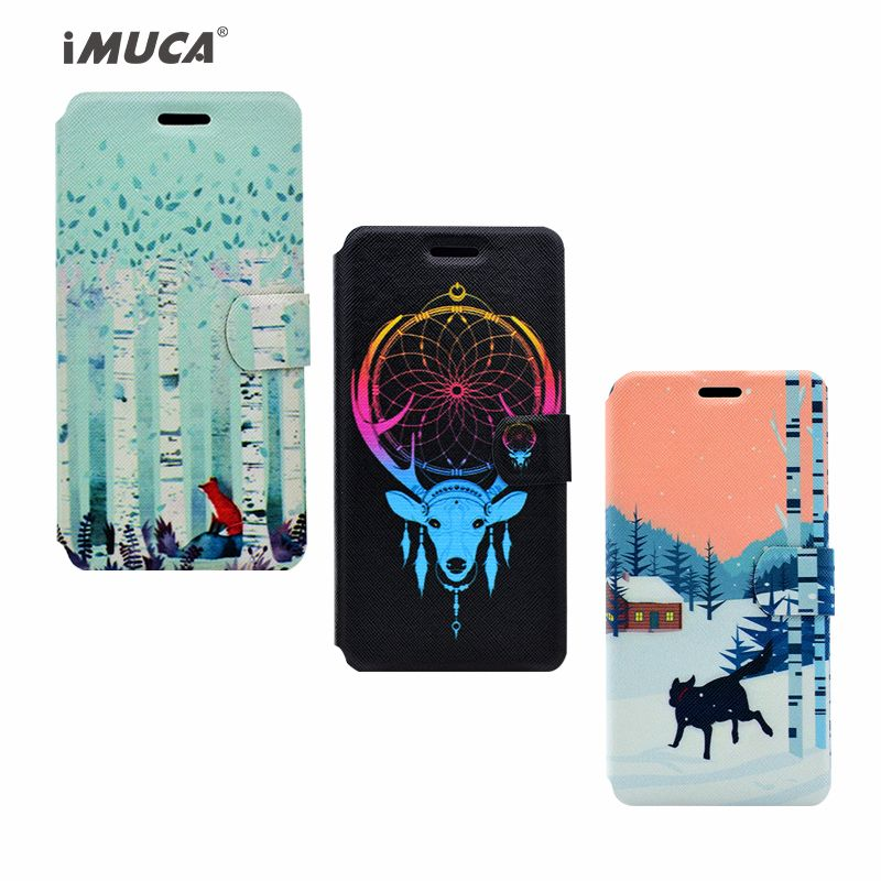 iMUCA Flip Case for iPhone 6 6S Case PU Leather Wallet Painted PU Leather+Soft TPU Back Cover Magnetic Capa Mobile Phone Bag