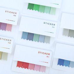 Color del gradiente de kawaii papelería pad Memo notas adhesivas papel Adhesivos scrapbooking lindo post it DIY estacionaria Adhesivos