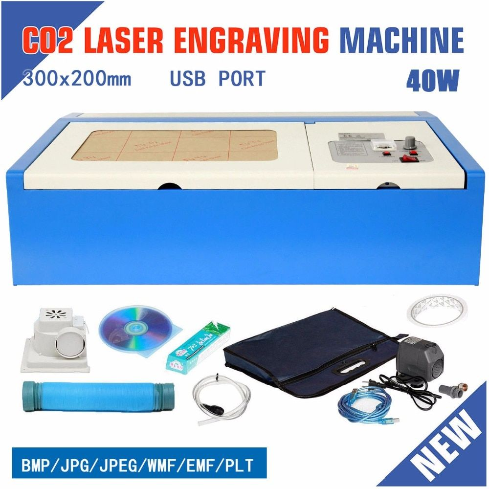 (Ship from EU) 40W CO2 Laser Engraver Engraving Cutter Cutting Machine USB Port 220V