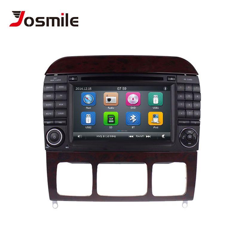 Josmile 2 Din Auto Multimedia-Player DVD Automotivo Für Mercedes/Benz/W220/W215/S280/S320 /S350/S400 S Klasse GPS Radio Navigation