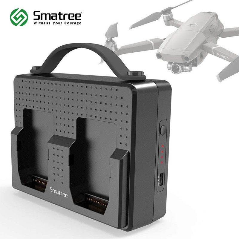 Smatree Portable Charging Station Compatible with DJI Mavic 2 Pro Batteries
