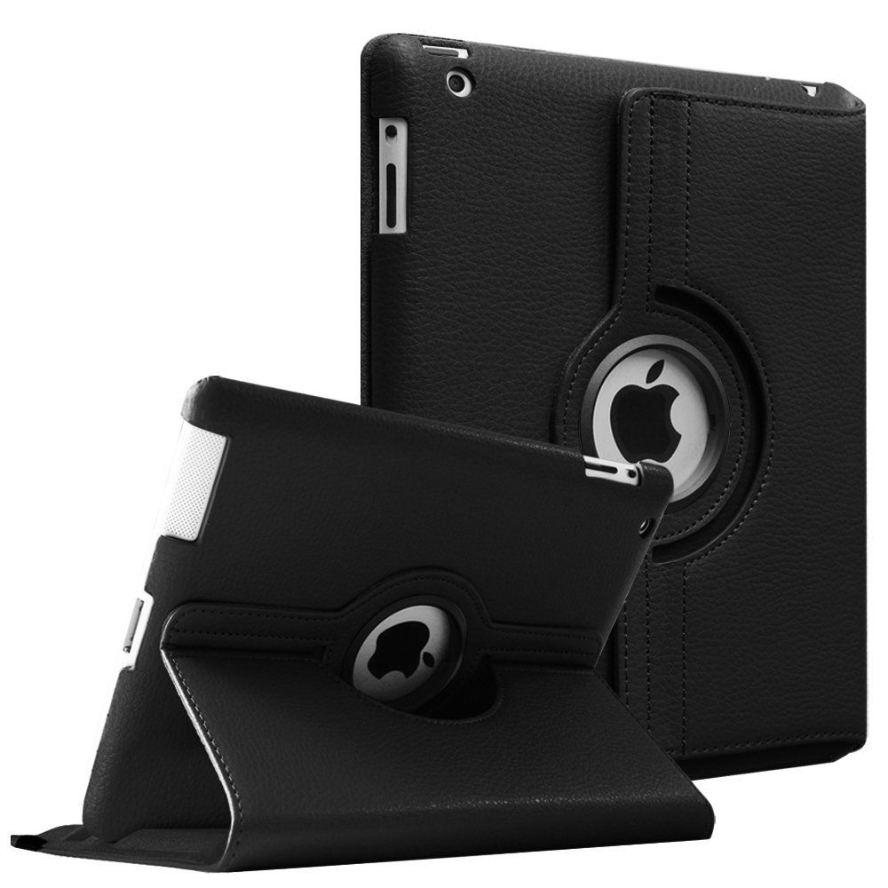 Case for Apple iPad 2 3 4,360 Rotation Flip PU Leather Case Stand Smart Case Cover for iPad 2 iPad 3 iPad 4 Tablet Funda Case