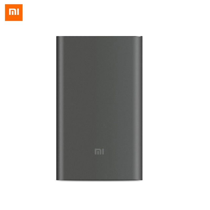 Original Xiaomi Mi 10000mAh Power Bank Pro 10000 mAh Powerbank Quick Charger QC 2.0 Type-C External Battery Pack for Smartphone