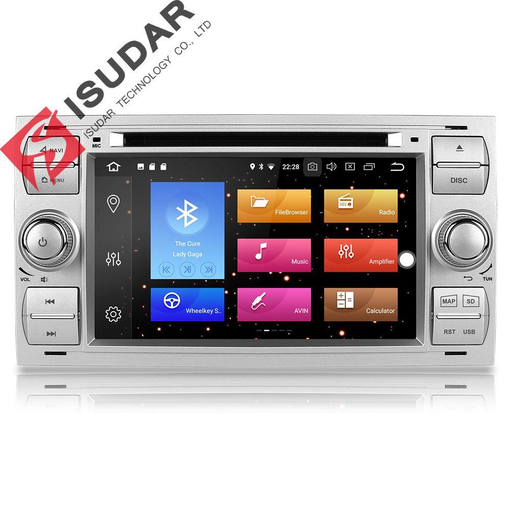 Isudar Auto Multimedia-Player GPS Android 8.0 2 Din Stereo System Radio Für Ford/Focus/Mondeo/Kuga Octa core Wifi Mikrofon DVR