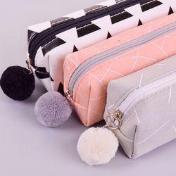 Новый лаконичный сплошной цвет Девушки Джинсовый пенал школьные пеналы для девочек канцелярские рулон карандашей сумка estojo escolar