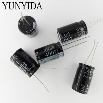5 PCS 400 V 10 UF 15 UF 22 UF 33 UF 47 UF 68 UF 82 UF 100 UF 150 UF Condensateur Électrolytique En Aluminium