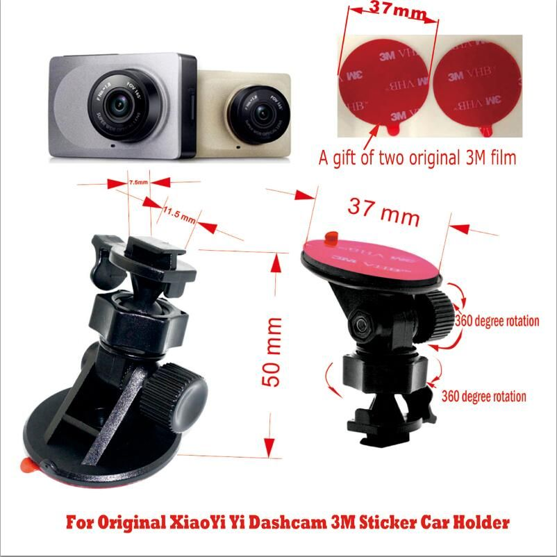 Original for Xiaomi Yi car holder bracket  3M sticker, install firmly  360 degree rotation  Fits of Xiaomi Yi car DVR
