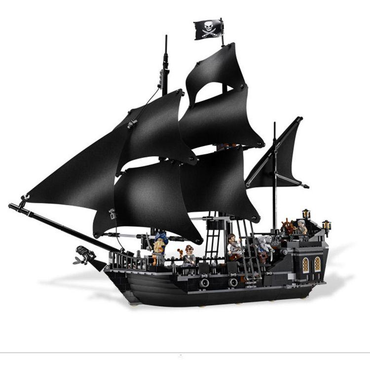 804 шт. Черная жемчужина корабль кирпичи рисунках установить Пираты Карибского моря здания Конструкторы Игрушечные лошадки для детей 16006 ...