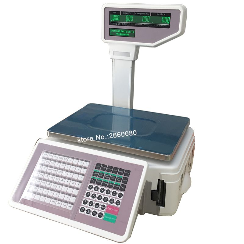 New TM-A 2017 Digital Retailer Scales TMA Price Computing Electronic Scale with Barcode Printer for Grocery Label Printing Scale