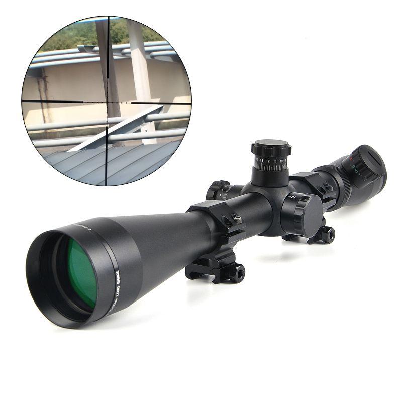 6-24x50 M1 Hunting Scopes Optics Rifle Scope Red and Green Dot Fiber Reticle Sight 11mm / 20mm Rail Riflescope