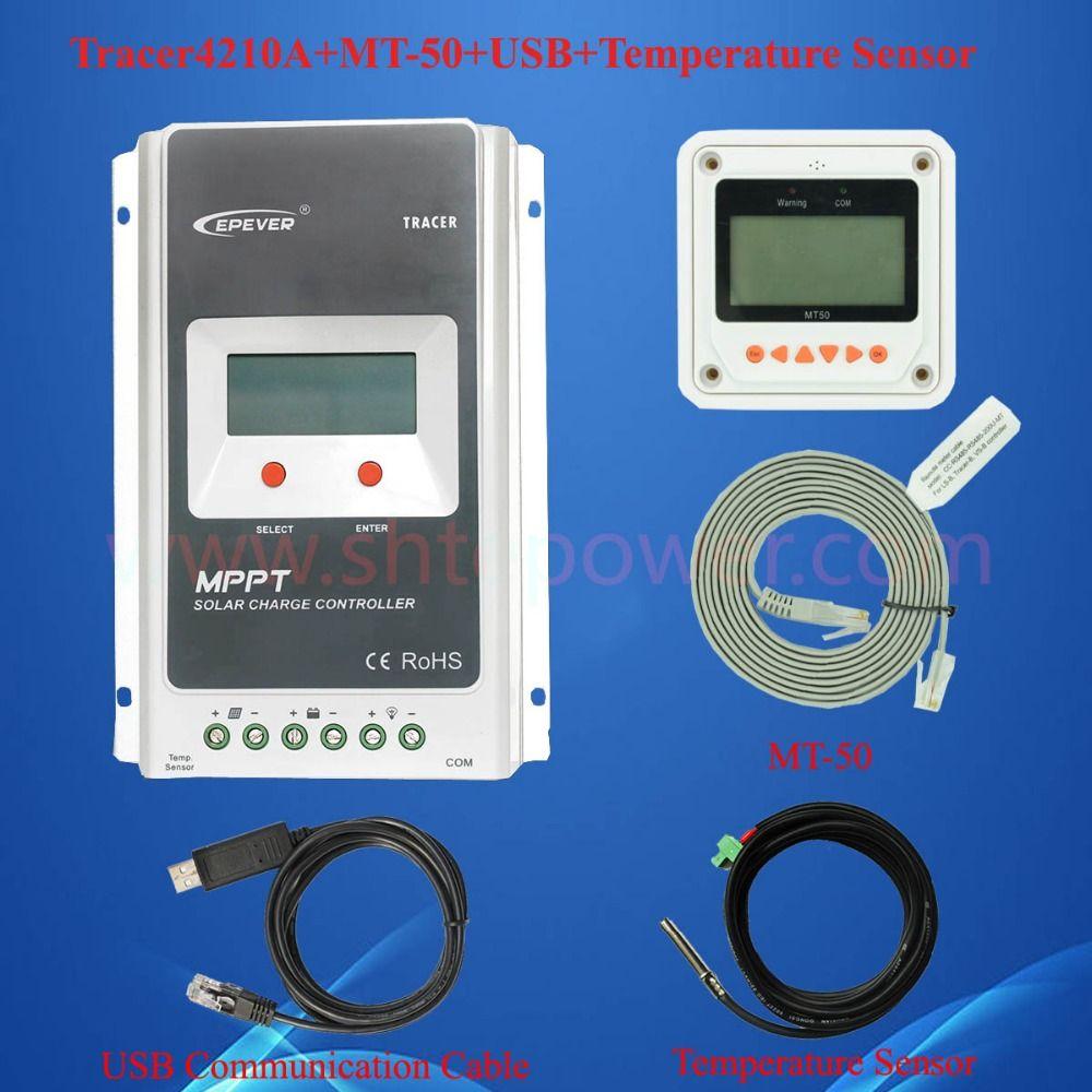 40a 12 v pv regler, 12 v 24 v auto system verwenden mppt solarladeregler controller 40amp max 100 v eingang mit mt50 lcd und USB & Sensor