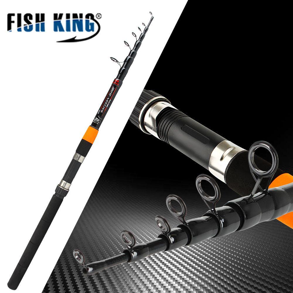 Fish King Telescopic feeder rod 3.0m-3.9m 2 Section C.W 120g Extra Heavy Fishing Feeder Rods 60% Carbon Fiber Feeder Rod