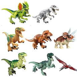 Legoing Dinosaurs Park Tyrannosaurus Rex Mini Single Sale Kid Baby Sets Model Building Blocks Bricks Kids Toys Legoings Dinosaur