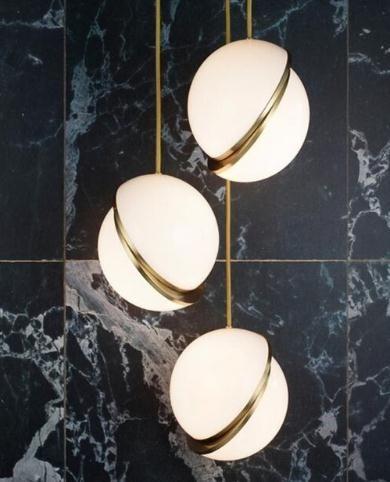 Nordic modern style glass ball gold pendant light iron kitchen living room restaurant bedroom Suspension Luminaire Hanging Lamp