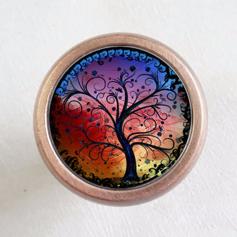 TREE OF LIFE - Drawer Knobs Pulls Handles / Kitchen Cabinet Handle / Antique Brass Dresser Drawer Knobs furniture hardware