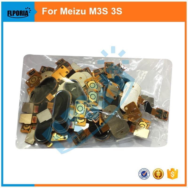 FLPORIA 1PCS  New For Meizu M3S Meilan 3S Mini Home Button  Touch ID Fingerprint Sensor Back Key Parts