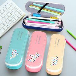 Cartoon Animal Star Bear Fish Pen Box Pencil Case Creative Korean Style Large Storage Ballpoint Pen Stationery School supplies