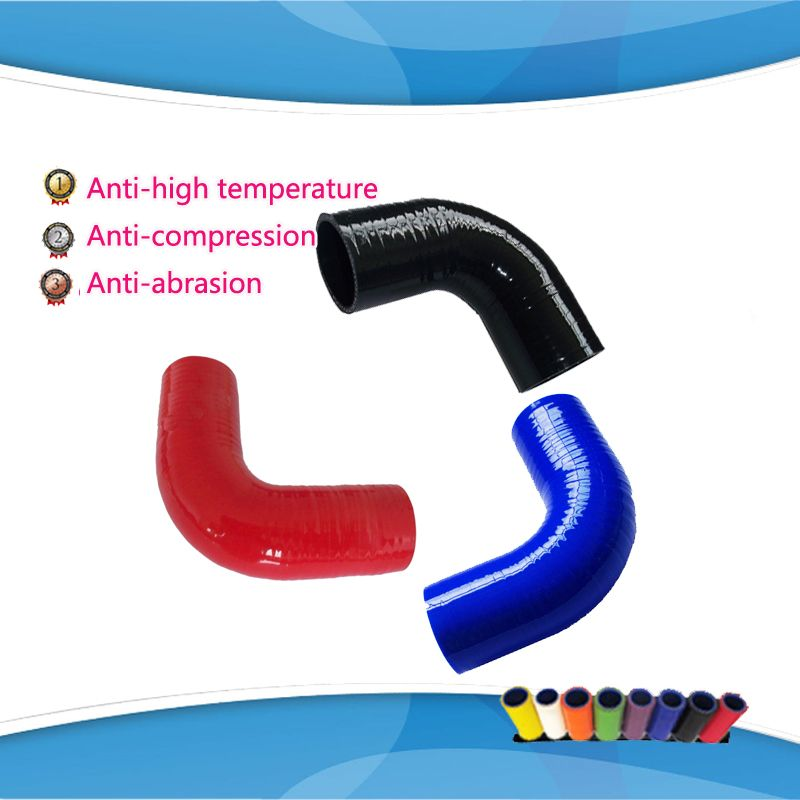 (1pc) ID:6.5mm/8mm/10mm/11mm/13mm/16mm/19mm 90 Degree Standard Elbow silicone hose  Coupler Turbo Intake Hose