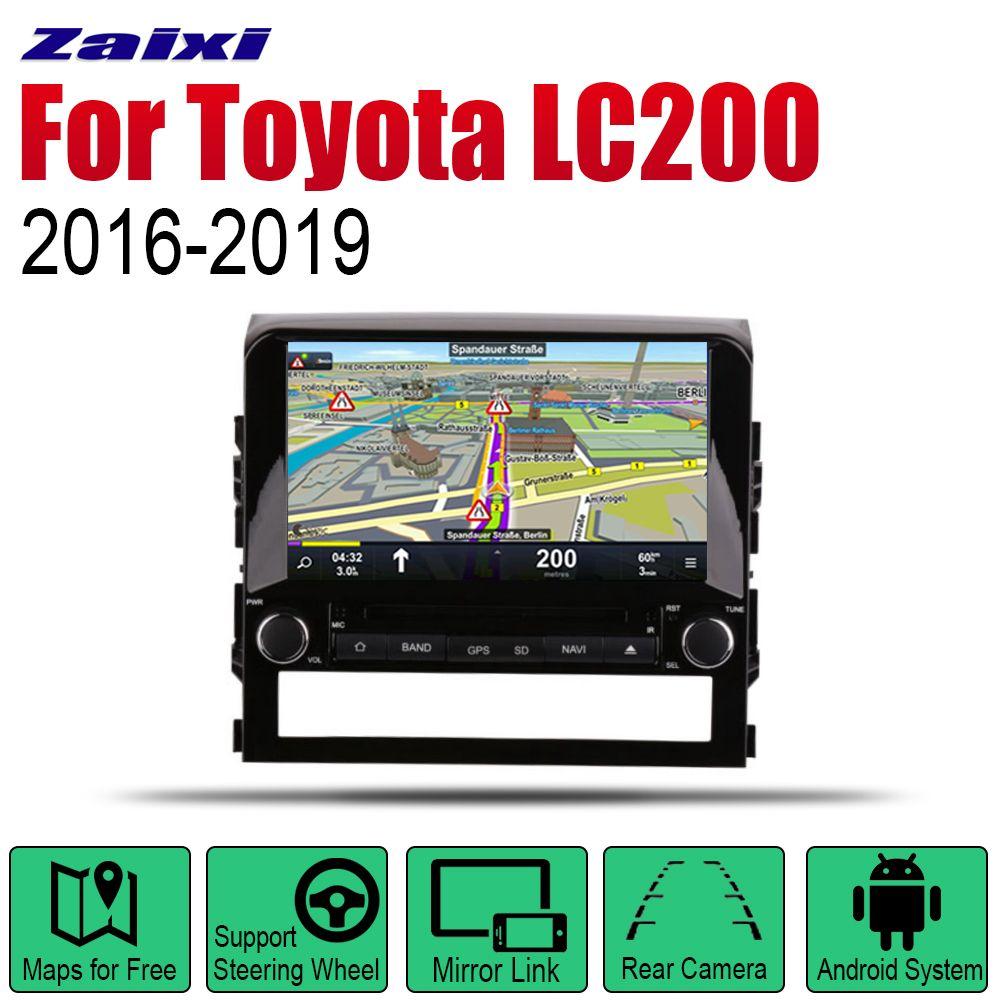 ZaiXi Auto Radio 2 Din Android Auto DVD Player Für Toyota Land Cruiser LC200 2016 ~ 2019 GPS Navigation BT wifi Karte Multimedia