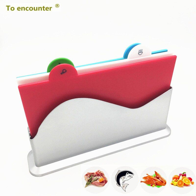 New Silvery Color Kitchen Cutting Board Chopping Board Blocks Separately Cutting Board 4pcs/set Kitchen Utensils Cutting Block