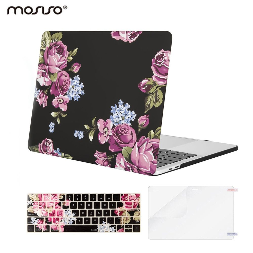 Mosiso Laptop Plastic Cover Case for Macbook Pro 13 A1706 A1708 A1989 w/out touch Bar 2016 2017 2018 + Silicone Keyboard Cover