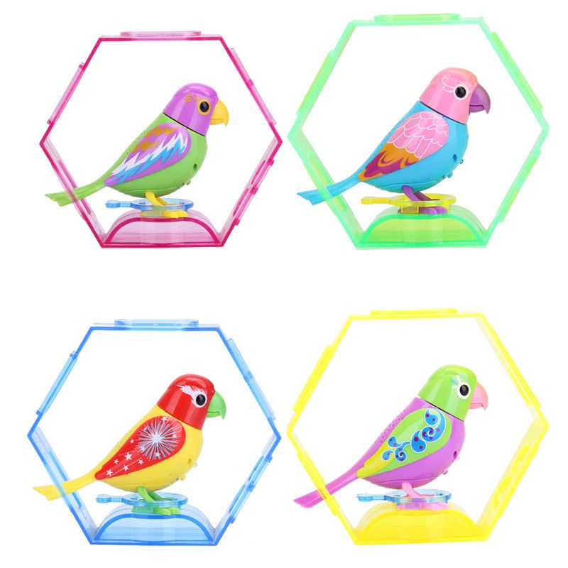 20 Songs Singing Sound Birds Pets Sing Solo or in a Choir Intelligent Music Bird for Kids/Children Electric Toy Random Color