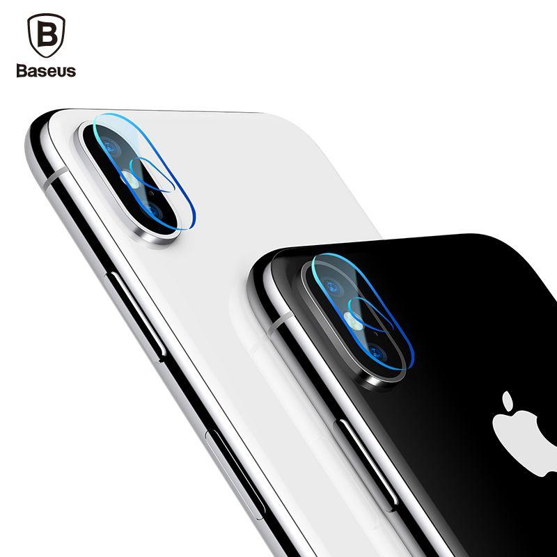Baseus 0,15mm Transparent Kamera Objektiv Screen Protector Für iPhone X 10 Klar Zurück Abdeckung Telefon Objektiv Gehärtetem Glas Für iPhoneX