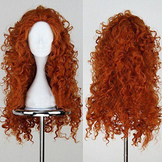 Brave Merida Cosplay Wig Long Curly Role Play Wig Halloween Hair