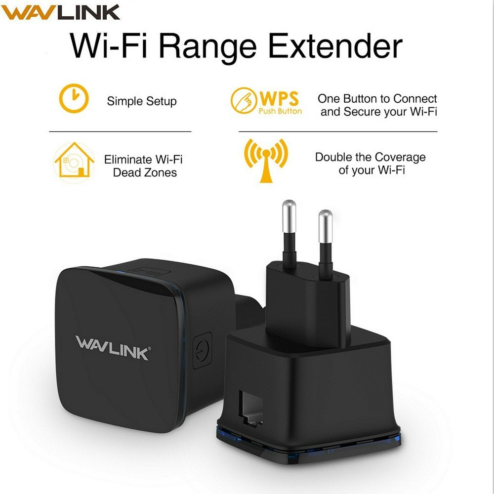 Wavlink N300 Compact Size Mini Wifi Repeater 300Mbps Long Range wifi Extender Wireless <font><b>Router</b></font> Wi fi Repeater EU US Plug with WPS