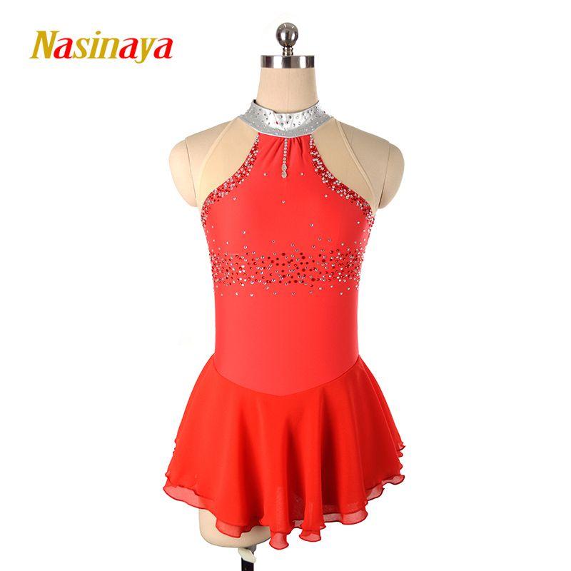 Nasinaya Figure Skating Dress Customized Competition Ice Skating Skirt for Girl Women Kids Patinaje Gymnastics Performance 164