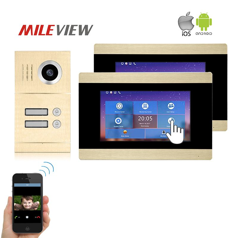 Free Shipping Two Apartment 1.0MP 720P AHD IP SIP 7