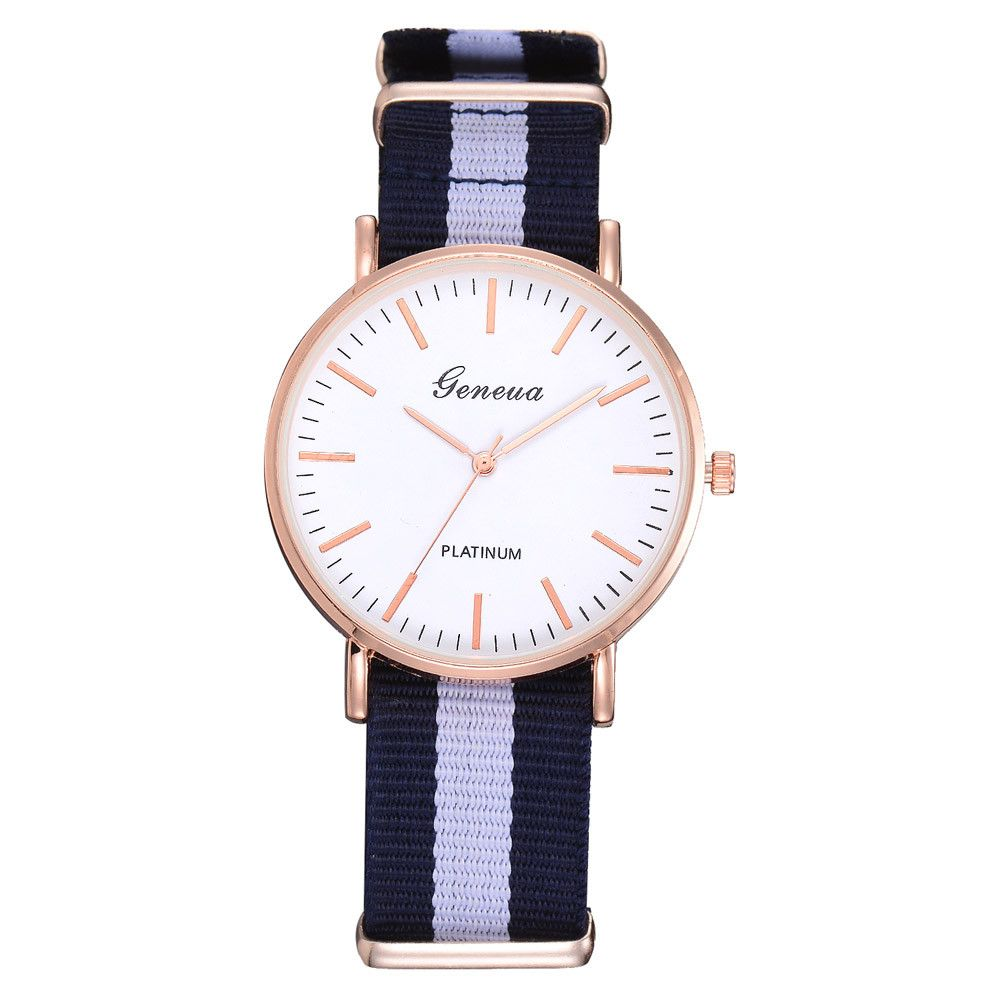 Splendid Famous Brand BBG Watch Men Fashion Thin Dial Siamese Canvas Band Analog Quartz Wrist Watch 2019