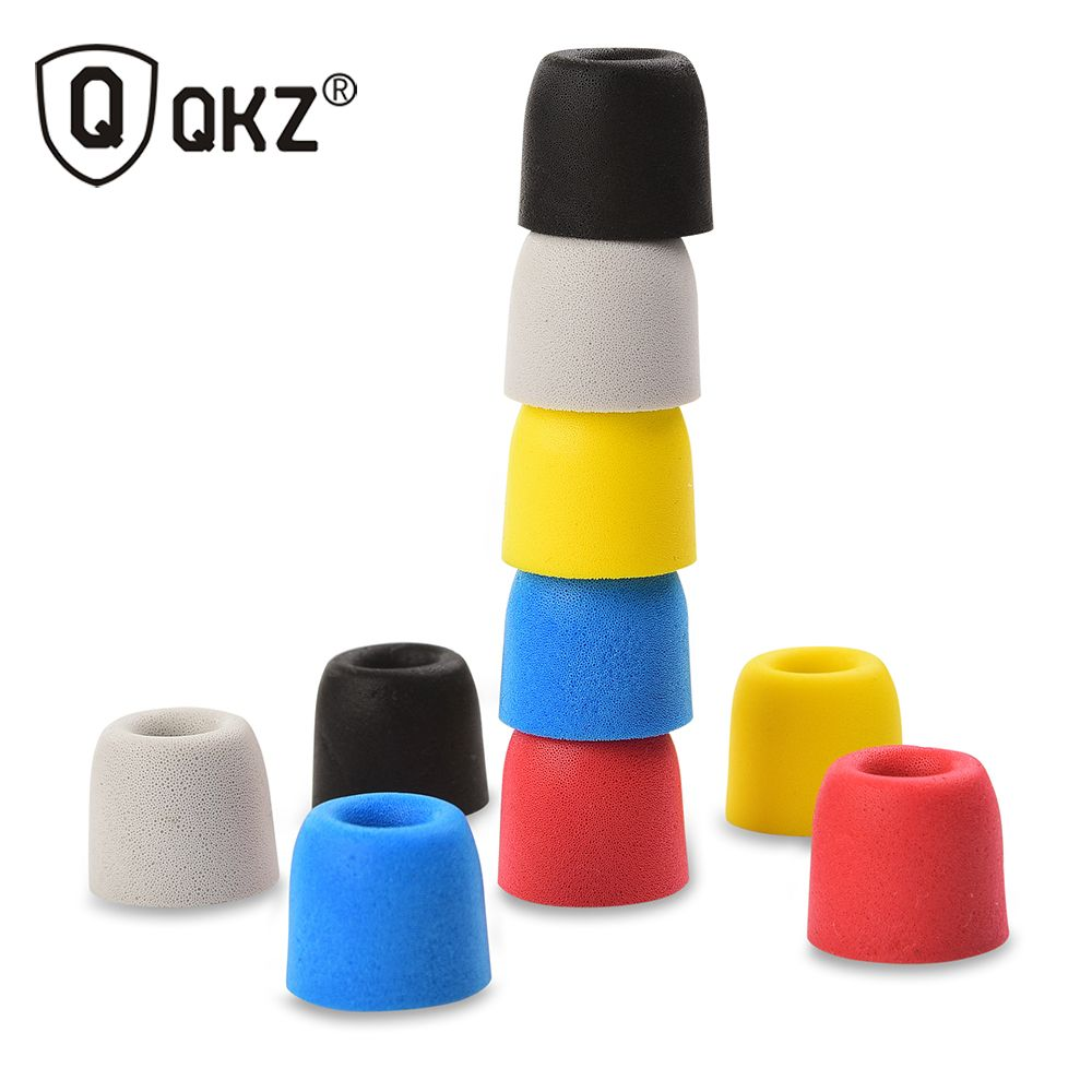 QKZ Original 5 paires T400 5 couleurs isolation du bruit confortable en mousse à mémoire de forme embouts d'oreilles coussinets pour casque écouteurs casque