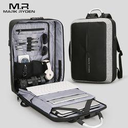 Mark Ryden New Anti-thief USB Recharging Men Backpack NO Key TSA Lock Design Men Business Fashion Message Backpack Travel