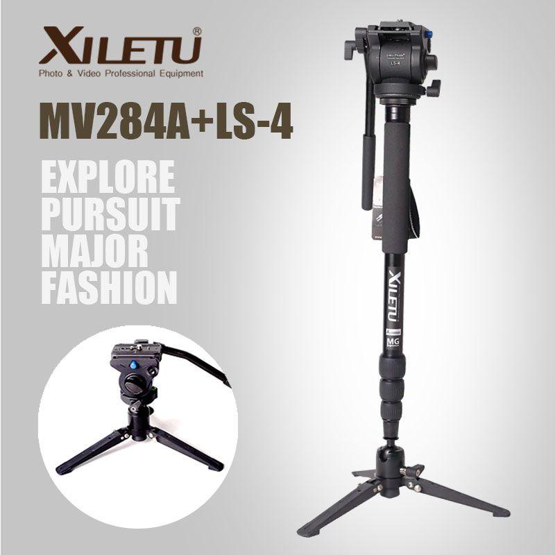 Xiletu MV284A LS4 алюминий монопод и поддержка рамки гидравлическая головка камера стабилизатор для Canon Eos Nikon DSLR камера