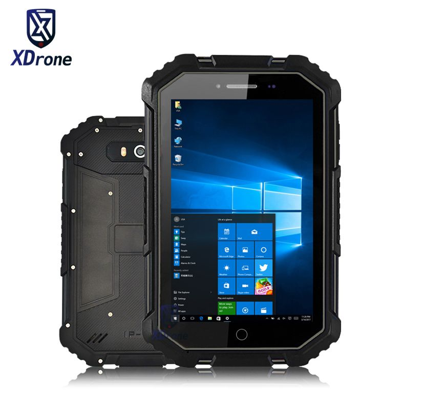 2018 China X16 Rugged Windows 10 Home Tablet PC Waterproof Car Computer Intel Z8350 7
